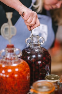Making damson and rowan gin