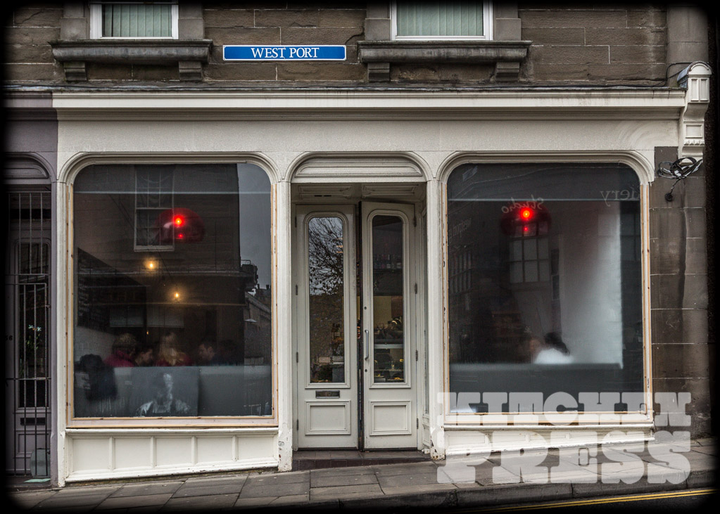 Exterior view of Parlour Cafe Dundee