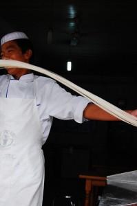 Man pulls noodles!