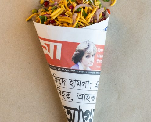 Chanachur in a Lady Di cone