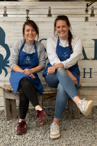 Seafood Shack owners Fenella and Kirsty