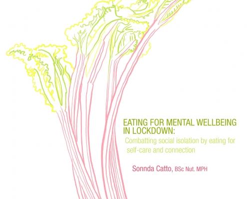 fresh rhubarb - eat seasonally for mental wellbeing