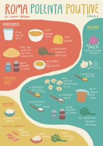 Tomorrow's Kitchen - roma polenta poutine recipe