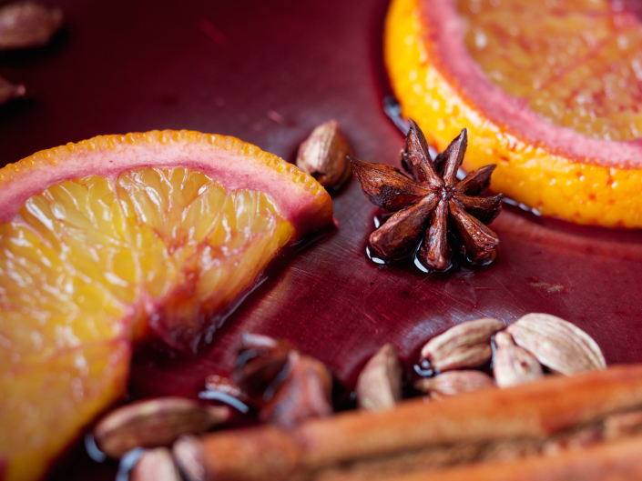 spiced mulled wine from the Mountain Cafe Cookbook